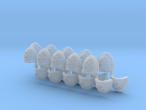Commission 67 shoulder pads part F in Smooth Fine Detail Plastic