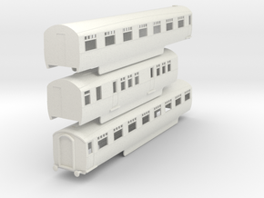 o-76-lner-silver-jubilee-C-D-triplet-coach in White Natural Versatile Plastic