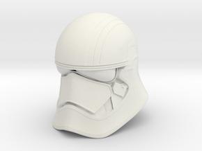 Phase Helmet in White Natural Versatile Plastic: Small