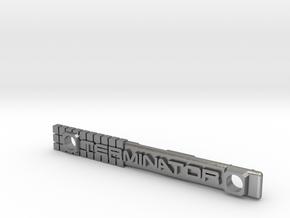 Terminator M-Lok Vanity Badge for RIfle Rail in Natural Silver