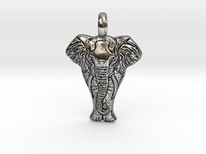 elephantCharm in Antique Silver
