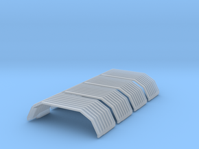 HO Trilevel Roof Ends in Smooth Fine Detail Plastic