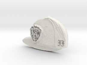 cap in White Natural Versatile Plastic