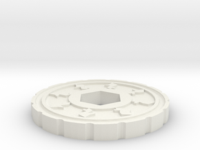 Gold Coin  in White Natural Versatile Plastic