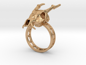 Muntjac Ring (Size 10.5) in Natural Bronze