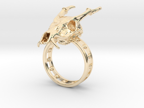 Muntjac Ring (Size 10.5) in 14K Yellow Gold