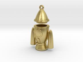 Rocket Pendant - Type-2 in Natural Brass