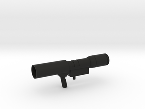 Megatron Gun in Black Natural Versatile Plastic