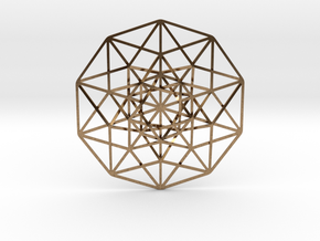 "5D Hypercube 2.75"" in Natural Brass"