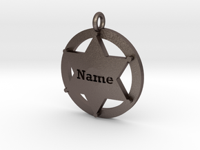 Sheriffs Star (6-point) Pet Tag / Pendant /Key Fob in Stainless Steel
