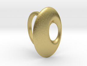 RING PEBBLE V6-4large 3mm in Natural Brass