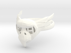 BirdRingBend 19mm in White Processed Versatile Plastic