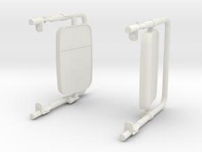 HUMVEE  M1025 side mirrors in White Natural Versatile Plastic: 1:12
