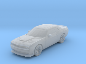 Dodge Challenger 1-87 HO Scale in Smooth Fine Detail Plastic