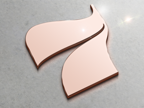 Numerical Digit Seven Pendant in 14k Rose Gold