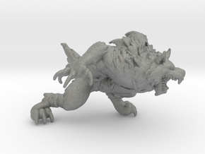Werewolf DnD 1/60 miniature for games and rpg in Gray PA12