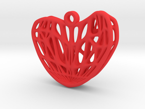 Whitney Umbrella Heart Earring (001) in Red Processed Versatile Plastic