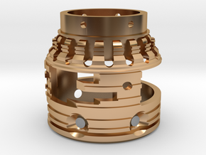 Part7 outer reactor in Polished Bronze