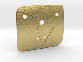 """Facelift Cupra Front """"S"""" Badge - Back Part in Natural Brass"""