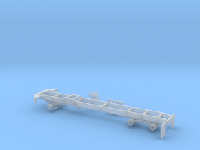 1/87th 6X6 Truck Frame for International Paystar c in Smooth Fine Detail Plastic