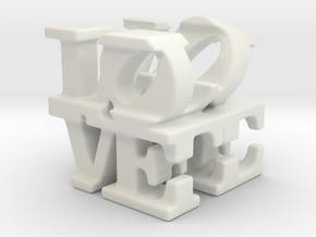love/life - tiny (1cm) in White Natural Versatile Plastic