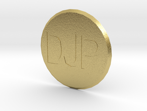 Customisable Golf Ball Marker in Natural Brass