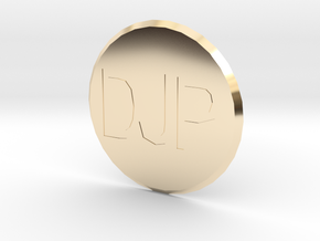 Customisable Golf Ball Marker in 14K Yellow Gold