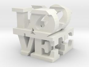 love/life - large (10cm) in White Natural Versatile Plastic