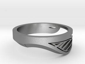 Modern Single Leaf Ring in Natural Silver