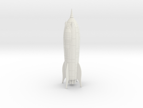 Zarkov Rocket Filmation in White Natural Versatile Plastic