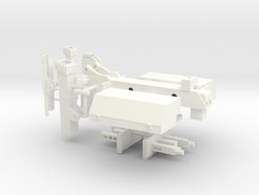 1/25 Tow bar zacklift fifth wheel wrecker  in White Processed Versatile Plastic