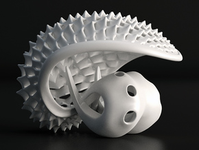 Mini Tuskshell in White Processed Versatile Plastic