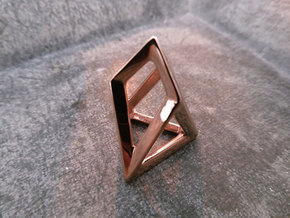 EOS chestahedron - rictoken in 14k Rose Gold Plated Brass