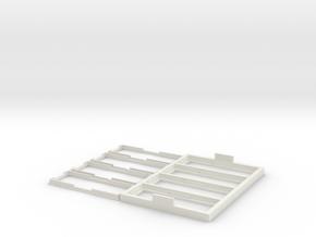 Multi-slide Holder Tray for Microscopy - 4 Slides in White Natural Versatile Plastic