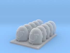 Ultra Corp V10 Reaper Smooth Style Shoulder Pad in Smooth Fine Detail Plastic