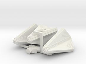 3788 Scale Tholian Patrol Corvettes (3) SRZ in White Natural Versatile Plastic