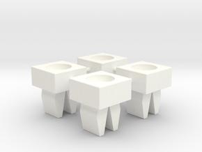 CFTBL Chase Light Fastening Clip v3 x4 in White Processed Versatile Plastic