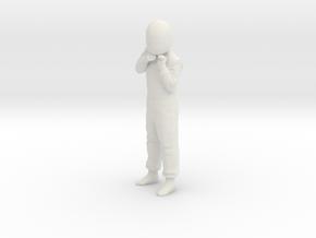 1/24 180cm Racing Driver Wearing Helmet in White Natural Versatile Plastic