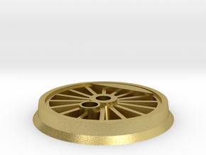 Gauge 1 BR55 Driving Wheel in Natural Brass