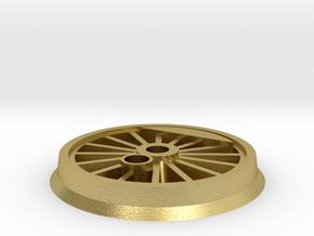 Gauge 1 BR55 Driving Wheel in Natural Brass