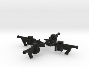Space Splurge Guns in Black Natural Versatile Plastic: Large