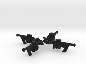 Space Splurge Guns for Micronauts in Black Natural Versatile Plastic: Large