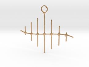 Wave Pendant in Natural Bronze