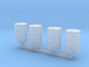 Steel Drums 55 Gallon Closed in Smooth Fine Detail Plastic: 1:64 - S