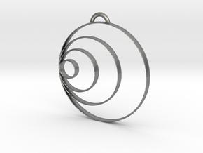 Bubble Pendant in Natural Silver