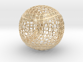 Tennis Ball Curve Wire Mesh in 14K Yellow Gold