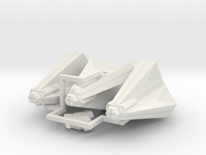 3788 Scale Tholian Destroyers (3) SRZ in White Natural Versatile Plastic