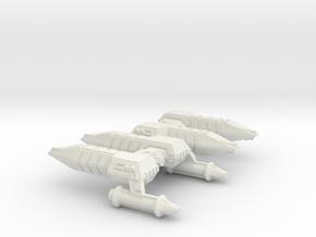 3788 Scale Lyran Refitted Cheetah Frigates (2) CVN in White Natural Versatile Plastic