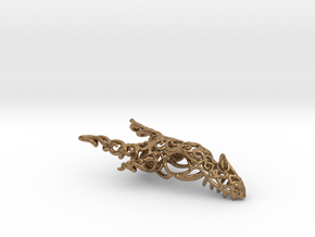 Dragon of Swirls in Natural Brass