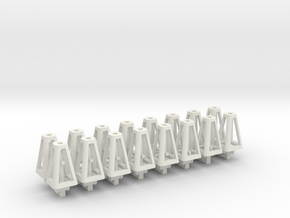 Jack Stands 16 pack 1-50 Scale in White Natural Versatile Plastic